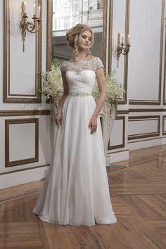 Vestidos de novia 2016 con cuello barco: Los diseños más sofisticados Image: 9