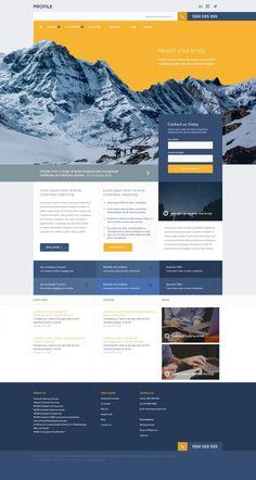 Profile – A free website psd file