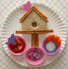 Cute snack and lunch ideas for toddlers.