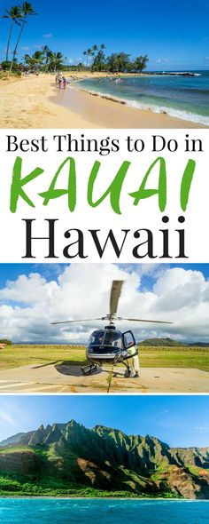 Planning a trip to Kauai, Hawaii and looking for fun and exciting ways to explore and experience everything the island has to offer? Check out this list of the Best Things To Do In Kauai for great ideas and recommendations from scenic hikes to luaus! Kauai Vacation, Hawaii Honeymoon, Vacation Trips, Vacation Spots, Vacation Ideas, Beach Vacations, Couples Vacation, Honeymoon Ideas, Oahu