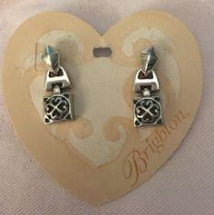 Brighton Earrings Tribeca Silver tone Link Post New! | eBay