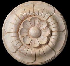 FLR-20 Hand carved ornamental wood Rosettes for furniture decoration.jpg (778×738)