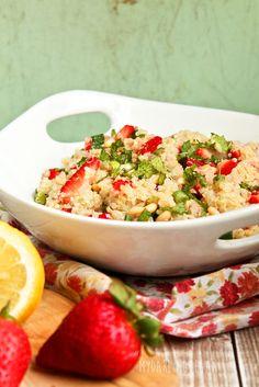 Strawberry Mint Quinoa Salad with Lemon Vinaigrette
