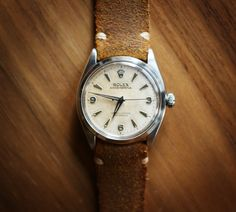 1957 Rolex SS Oyster Perpetual.