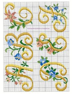 Thrilling Designing Your Own Cross Stitch Embroidery Patterns Ideas. Exhilarating Designing Your Own Cross Stitch Embroidery Patterns Ideas. Cross Stitch Thread, Cross Stitch Letters, Cross Stitching, Cross Stitch Embroidery, Embroidery Patterns, Stitch Patterns, Plastic Canvas Letters, Monogram Alphabet, Embroidery Monogram