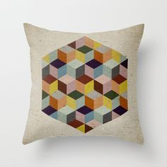 Dimension Throw Pillow by According to Panda - $20.00