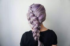 Purple Hair | Dutch Braid | Side Braid | Hair Extensions | Clip-in Hair Extensions @kinghaircom