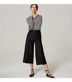 dc1916c56f4f Cut in a chic culotte silhouette that defines the waist and sweeps wide  through the leg
