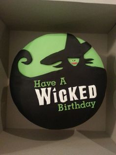 Wicked musical cake