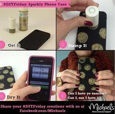Cute idea to decorate your plain phone case . Add a little sumn-sumn