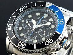 Seiko Solar Men's Chronograph Diver's SSC017P1