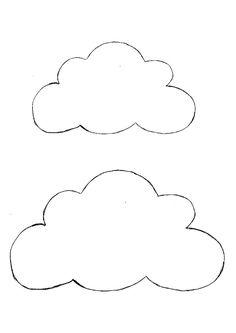 gabarit nuages à imprimer