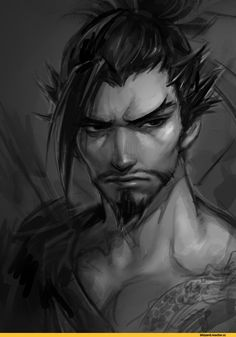 Blizzard,Blizzard Entertainment,фэндомы,Overwatch,Overwatch art,Hanzo,skyfiss