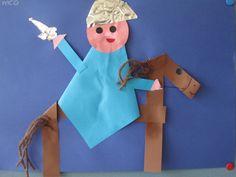 Ridder te paard vouwwerkje