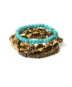 Take a look at this Antique Gold Zoria Stretch Bracelet Set by Amrita Singh  on #zulily today!