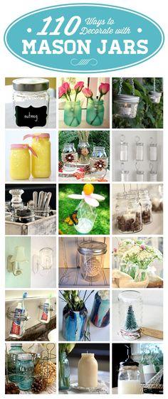 110+ Ways to Decorate with Mason Jars!