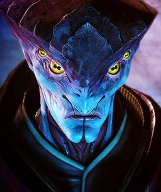 Javik should have gotten more of a story line and been available without a DLC. Humanoid Creatures, Alien Creatures, Fantasy Creatures, Mythical Creatures, Alien Concept Art, Creature Concept Art, Creature Design, Mass Effect Characters, Sci Fi Characters