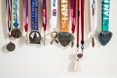 A simple solution for all your medals. This Race Medal Holder has a place for medals and PR times. Race Medal Holder, Medal Holders, Racing, Personalized Items, Life, Running, Auto Racing