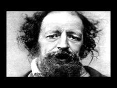 """A freaky video in which someone took a wax recording of the poet reading his poem and then paired it with a badly GIFed version of his face """"speaking.""""  Alfred, Lord Tennyson """"The Charge of the Light Brigade""""Wax Cylinder Poem animation"""