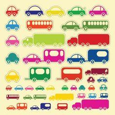 Car Truck Bus Vectors