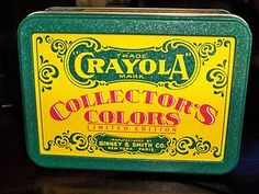 1991 Crayola Collector's Colors Limited Edition Tin