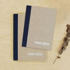 Think Green Notebooks Navy 2Pk, 14,50€, now featured on Fab.