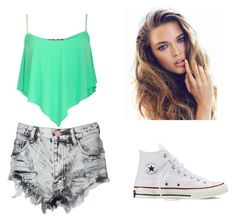 Cilling at the beach by madi-lydon on Polyvore featuring Glamorous and Converse