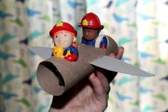 Cardboard tube airplanes - transportation theme