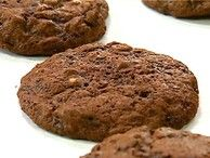 Look at this recipe - Chocolate, chocolate-chip cookies - from Food Network Kitchens and other tasty dishes on Food Network. Double Chocolate Chip Cookie Recipe, Chocolate Cookies, Chocolate Recipes, Chocolate Chocolate, Chocolate Heaven, Condensed Milk Cookies, Cookie Recipes, Dessert Recipes, Paleo