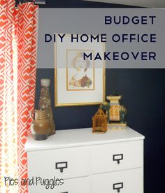 DIY Budget Home Office Makeover | Pies & Puggles
