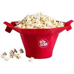 Chef'N poptop microwave popcorn popper maker - no mess - healthy snack Homemade Microwave Popcorn, Microwave Popcorn Maker, Healthy Preschool Snacks, Healthy Snacks, Cool Kitchen Gadgets, Cool Kitchens, Popcorn Seeds, Healthy Popcorn, Red Kitchen
