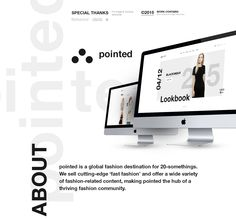 pointed / Eshop concept on Behance