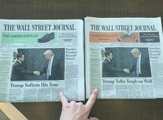 Same exact newspaper, same exact date, sold in different areas depending the level of political parties in that area. This is a clear case of the media training your brain people. Open your eyes before it's too late.