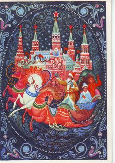 Советские новогодние открытки в народном стиле - Ярмарка Мастеров - ручная работа, handmade