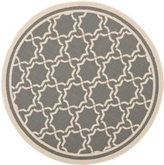 Amazon.com: Area Rug 5x5 Round Transitional Anthracite - Beige Color - Safavieh Courtyard Rug from RugPal: Home & Kitchen
