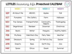 Pre K Art Lesson Plans Art Education - Gerrie Johnston Preschool Calendar, Homeschool Preschool Curriculum, Preschool Schedule, Preschool Prep, Preschool Lessons, Free Preschool, Preschool Weekly Themes, Pre K Curriculum, Curriculum Mapping