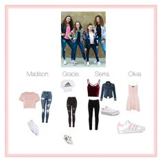 """Haschak sisters💗👯👯💗"" by angierivers02 on Polyvore featuring Topshop, adidas Originals, adidas and Converse"