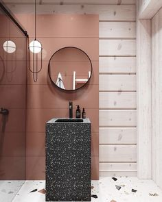 30 Quick and Easy Bathroom Decorating Ideas Hot Pink Bathrooms, Coral Bathroom, Bathroom Colors, Contemporary Bathroom Designs, Modern Bathroom, Small Bathroom, Pink Bathroom Accessories, Foyer Flooring, Small Toilet