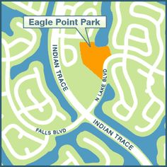 EAGLE POINT PARK, 18691 North Lake Boulevard (adjacent to Eagle Point Elementary School)  Hours: 8 a.m. - Dusk Amenities: - 7 acre neighborhood park - 2 baseball fields - Sand volleyball court - Open play area - Shaded playground - Exercise Path - Lakefront passive area - Parking - Dog Friendly park – dogs allowed on a max.  6' leash