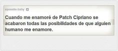 frase, hush hush, patch, cipriano