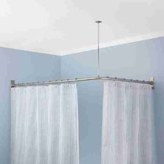 Shower Curtain Rods Curved L Shaped Round Corner Ovaldecor Ideas