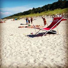 LeżaKing na plaży w Chałupach #chalupy #grandchair #lezaking #chairit