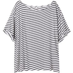 R13 slant stripe tee TR1310SS13 (125 CAD) ❤ liked on Polyvore featuring tops, t-shirts, shirts, striped top, striped tees, shirt top, tee-shirt and stripe t shirt