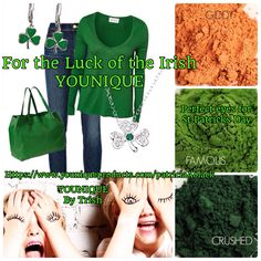 Ready for St Patricks Day? Get the perfect eyes with YOUNIQUE Mineral eye pigments. I love all the green colors! $12.50 for each eye pigment or $45 for a set of 4 pigments.