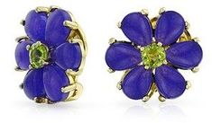 Bling Jewelry Silver Flower Jade Dyed Peridot Clip On Earrings 925 Silver Clip On Alloy.
