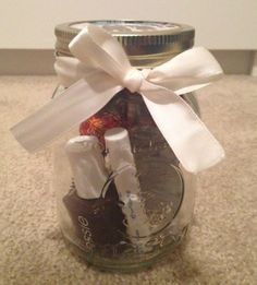Use Mason Jar to give lipgloss, nail polish & other things to make a great gift!