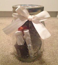 Use Mason Jar to give lipgloss, nail polish & other things to make a great gift!