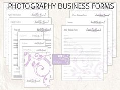 Business Forms Templates Pleasing Photography Business Forms And Contracts  Model Release Print .
