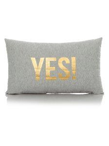 Buy George Home Double Sided Yes & No Cushion 30x50cm from our Cushions range today from ASDA Direct.