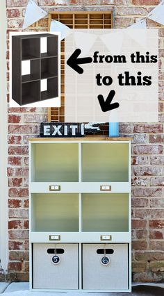 How to makeover a Lowes ClosetMaid laminate storage cube, create a custom look with @HomeRight at refreshrestyle.com